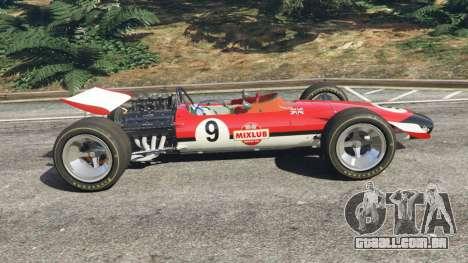GTA 5 Lotus 49 1967 [ailerons] vista lateral esquerda