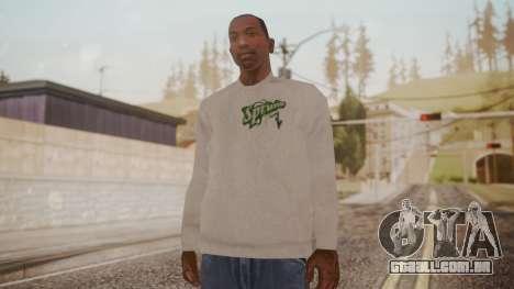 Sprunk Sweater Gray para GTA San Andreas segunda tela