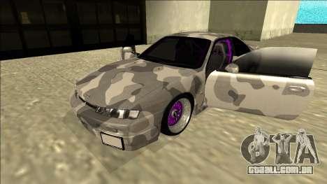 Nissan Silvia S14 Army Drift para GTA San Andreas vista traseira