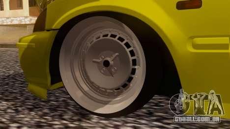 Honda Civic Taxi para GTA San Andreas traseira esquerda vista