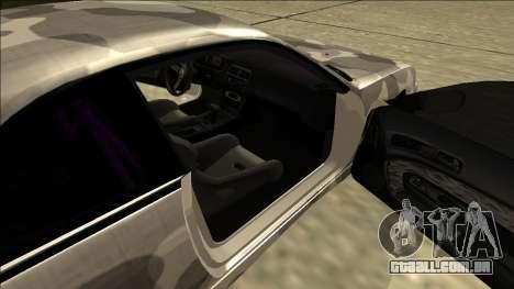 Nissan Silvia S14 Army Drift para GTA San Andreas traseira esquerda vista