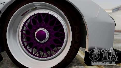 Mazda RX-7 Black Rock Shooter Itasha para GTA San Andreas traseira esquerda vista