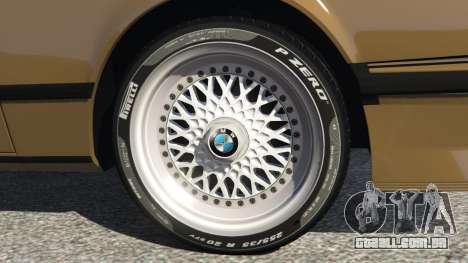 GTA 5 BMW M635 CSI (E24) 1986 traseira direita vista lateral