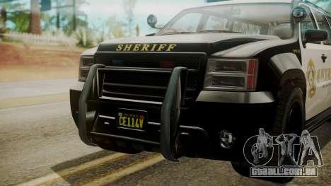 GTA 5 Declasse Granger Sheriff SUV IVF para GTA San Andreas vista direita