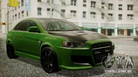 Mitsubishi Lancer Evolution X WBK para GTA San Andreas
