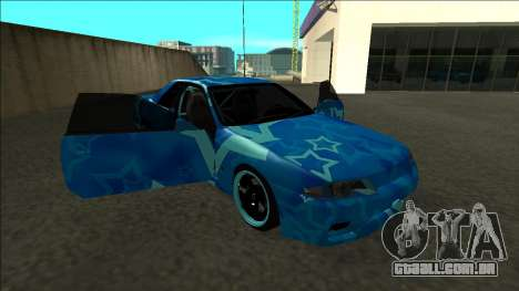 Nissan Skyline R32 Drift Blue Star para vista lateral GTA San Andreas