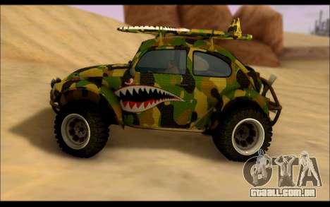 Volkswagen Baja Buggy Camo Shark Mouth para GTA San Andreas esquerda vista