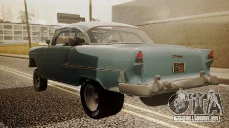 Chevrolet Bel Air Gasser para GTA San Andreas esquerda vista
