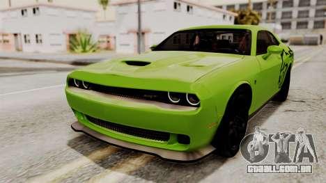 Dodge Challenger SRT Hellcat 2015 HQLM PJ para GTA San Andreas vista superior