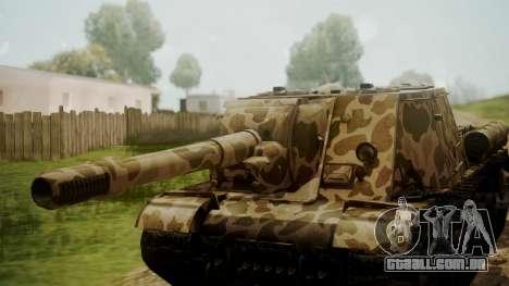 ISU-152 Panther Desert from World of Tanks para GTA San Andreas vista direita