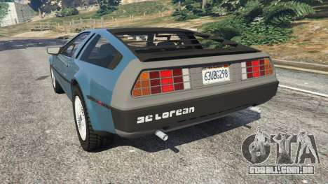 GTA 5 DeLorean DMC-12 v1.2 vista lateral esquerda