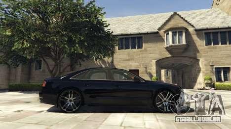 GTA 5 Audi A8 v1.1 vista lateral esquerda