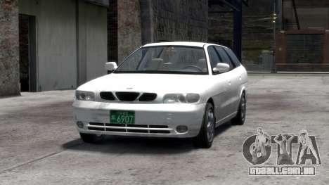 Daewoo Nubira I Spagon 1.8 DOHC 1998 para GTA 4 interior