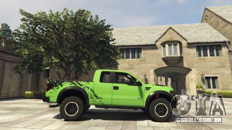 GTA 5 Ford F150 SVT Raptor 2012 v2.0 vista lateral esquerda