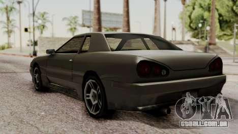 Elegy The Gold Car 2 para GTA San Andreas traseira esquerda vista
