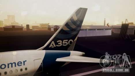 Airbus 350-900XWB Qatar Launch Customer para GTA San Andreas traseira esquerda vista