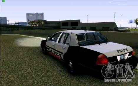 Weathersfield Police Crown Victoria para GTA San Andreas traseira esquerda vista