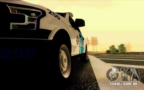 Ford F150 2015 Towtruck para vista lateral GTA San Andreas