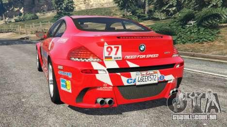 GTA 5 BMW M6 (E63) WideBody v0.1 [Carrillo] traseira vista lateral esquerda