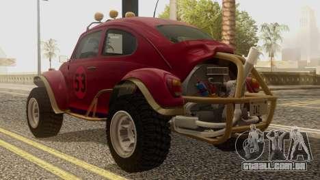Volkswagen Beetle Baja Bug para GTA San Andreas esquerda vista