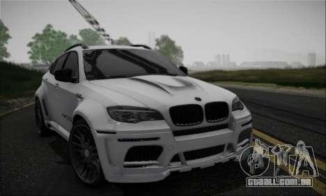 BMW X6M HAMANN Final para GTA San Andreas vista interior