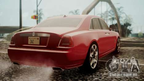 Rolls-Royce Ghost v1 para GTA San Andreas esquerda vista