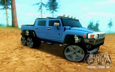 Hummer H6 para GTA San Andreas esquerda vista