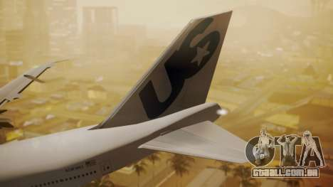 Boeing 747-200 Fly US para GTA San Andreas traseira esquerda vista