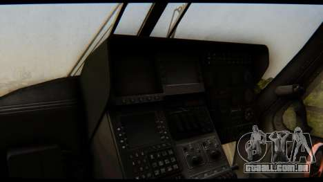 KA 60 Kasatka para GTA San Andreas vista interior