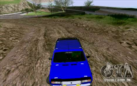 VAZ 2107 Tuning para GTA San Andreas vista interior