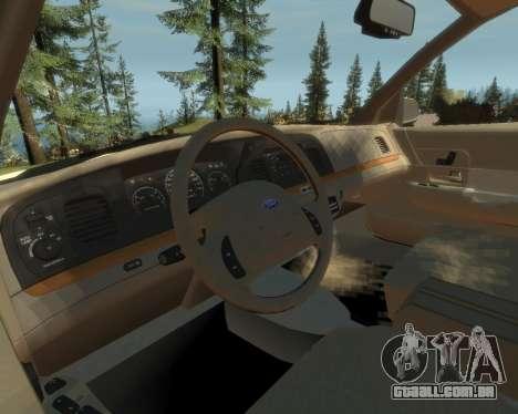 2003 Ford Crown Victoria para GTA 4 vista de volta