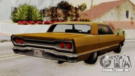 Taxi-Savanna v2 para GTA San Andreas esquerda vista