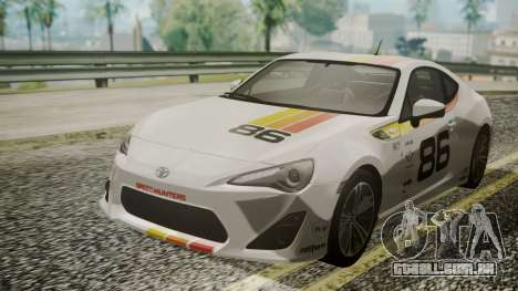 Toyota GT86 2012 LQ para GTA San Andreas interior
