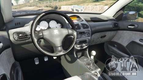 GTA 5 Peugeot 206 GTI vista lateral direita