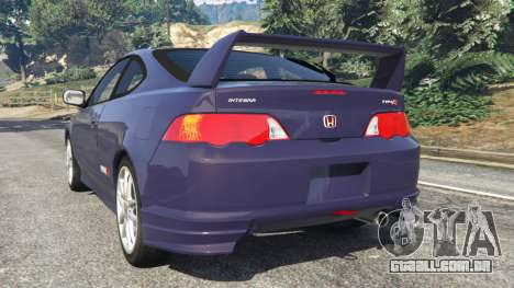 GTA 5 Honda Integra Type-R without license plate traseira vista lateral esquerda