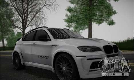 BMW X6M HAMANN Final para GTA San Andreas esquerda vista