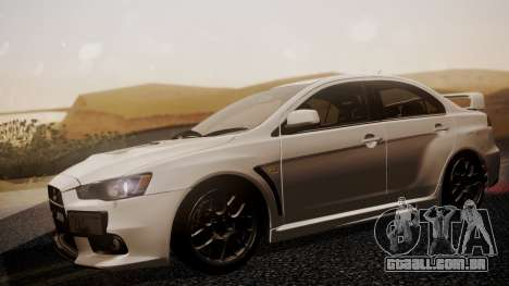 Mitsubishi Lancer Evolution X 2015 Final Edition para GTA San Andreas