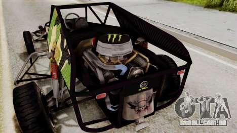 Buggy Camo Shark Mouth para GTA San Andreas vista interior