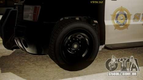 GTA 5 Declasse Granger Sheriff SUV para GTA San Andreas vista direita