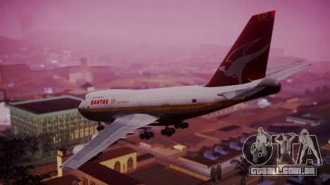 Boeing 747SP Qantas Gold para GTA San Andreas esquerda vista
