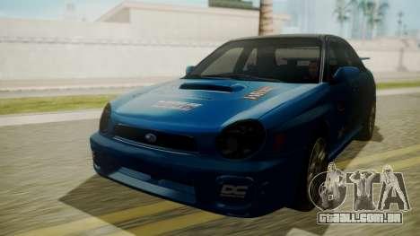 Subaru Impreza WRX GDA para GTA San Andreas vista superior