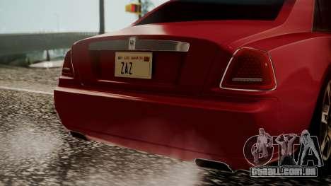 Rolls-Royce Ghost v1 para GTA San Andreas vista traseira