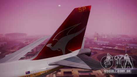 Boeing 747SP Qantas Gold para GTA San Andreas traseira esquerda vista