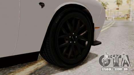 Dodge Challenger SRT Hellcat 2015 HQLM PJ para GTA San Andreas traseira esquerda vista