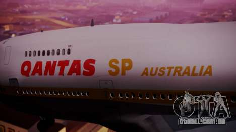 Boeing 747SP Qantas Gold para GTA San Andreas vista direita