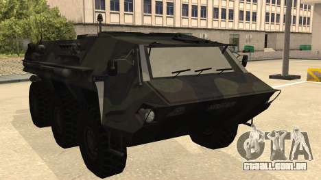 TPz 1 Fuchs Hummel para GTA San Andreas traseira esquerda vista