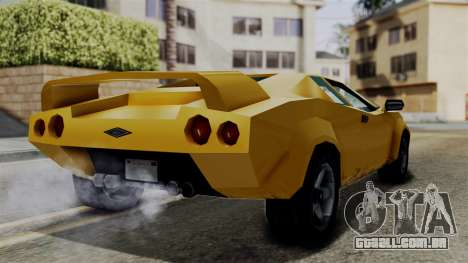Infernus from Vice City Stories para GTA San Andreas vista direita