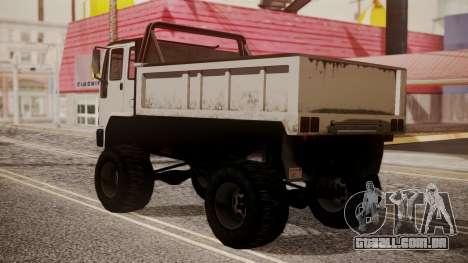 DFT Monster Truck 30 para GTA San Andreas esquerda vista
