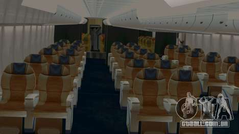 Airbus A380-800 British Overseas Airways Corp. para GTA San Andreas vista interior