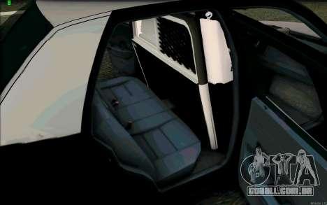 Weathersfield Police Crown Victoria para GTA San Andreas vista superior
